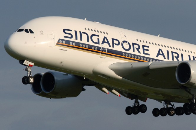 A Singapore Airlines A380.