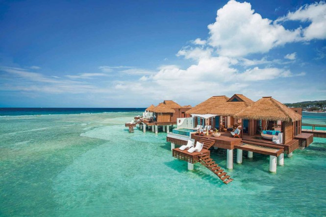 Jamaican Sandals Royal Caribbean now sports Tahitian-inspired overwater villas of its own, complete with private pools and 24-hour butler service. Photo courtesy of the property.