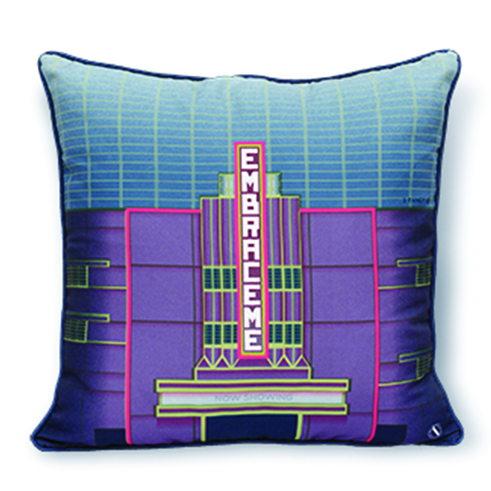 One of Scene Shang's cushion covers features the Cathay Building, once the tallest building in Southeast Asia (SG$38).
