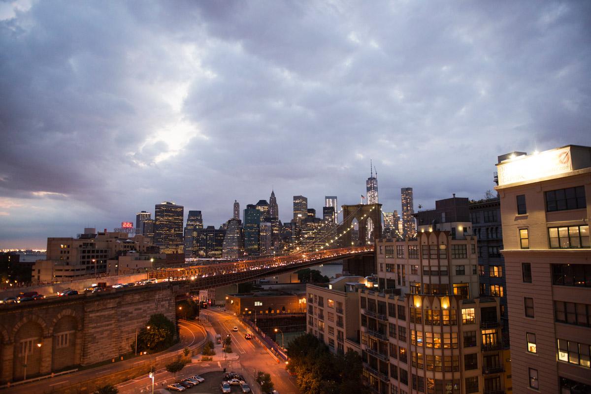 Brooklyn at dusk.