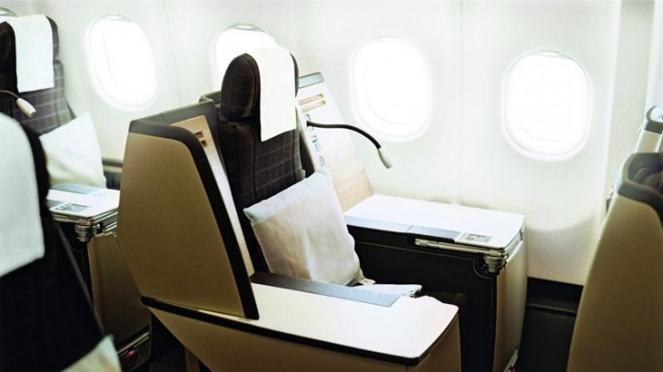 The coveted throne seat in business class.