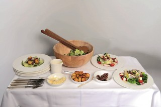 A selection of salads for passengers to choose from, as part of the Swiss Connoisseur Experience.