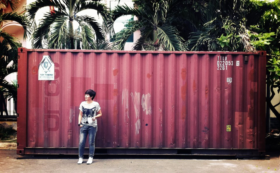 Shipping containers and other recycled materials make up Saigon Outcast's grounds.