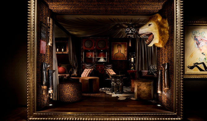 The Africa room.