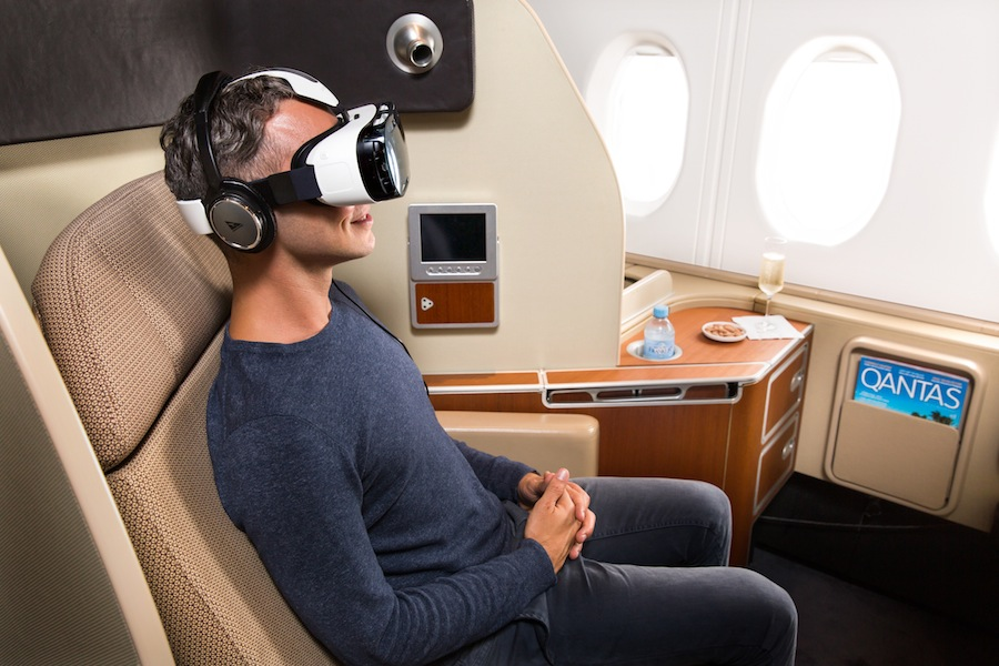 Qantas' VR headsets are an airline industry first.