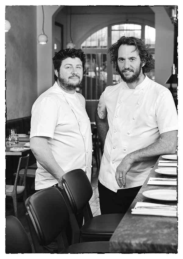 Chefs Scott Pickett and Joe Grbac at Saint Crispin on Melbourne's Smith Street.