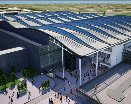 A rendering of the future terminal 2, Queen's Terminal.