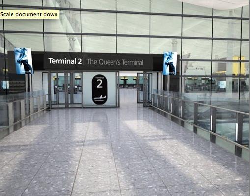 The entrance of the Queen's terminal, Heathrow.
