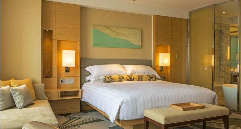 A shot of the interior of one of 272 rooms at the IHG Osaka.