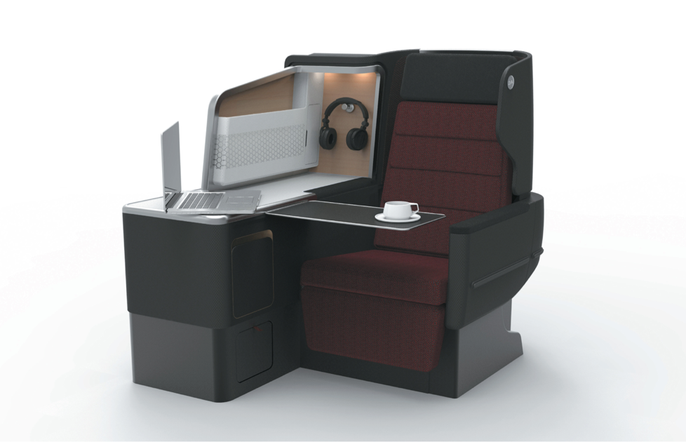 The new A330 business class suite.