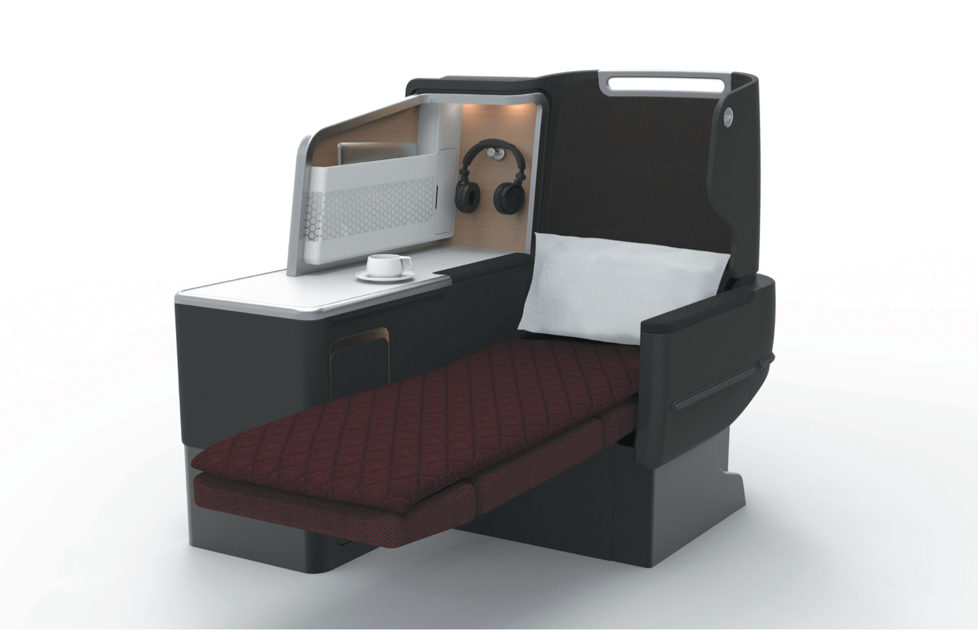 The new seats can be left in a recline position for take-off and landing