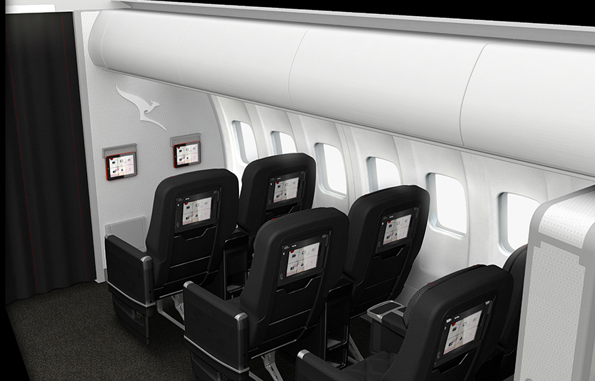 New iPad entertainment systems in every business class seat on select QantasLink flights.