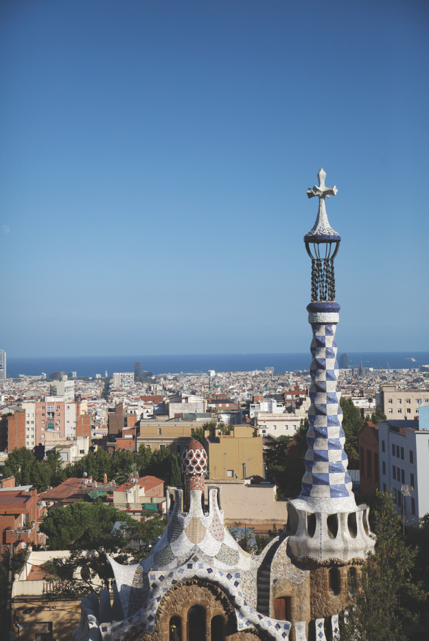 Overlooking Barcelona from Park Guell.