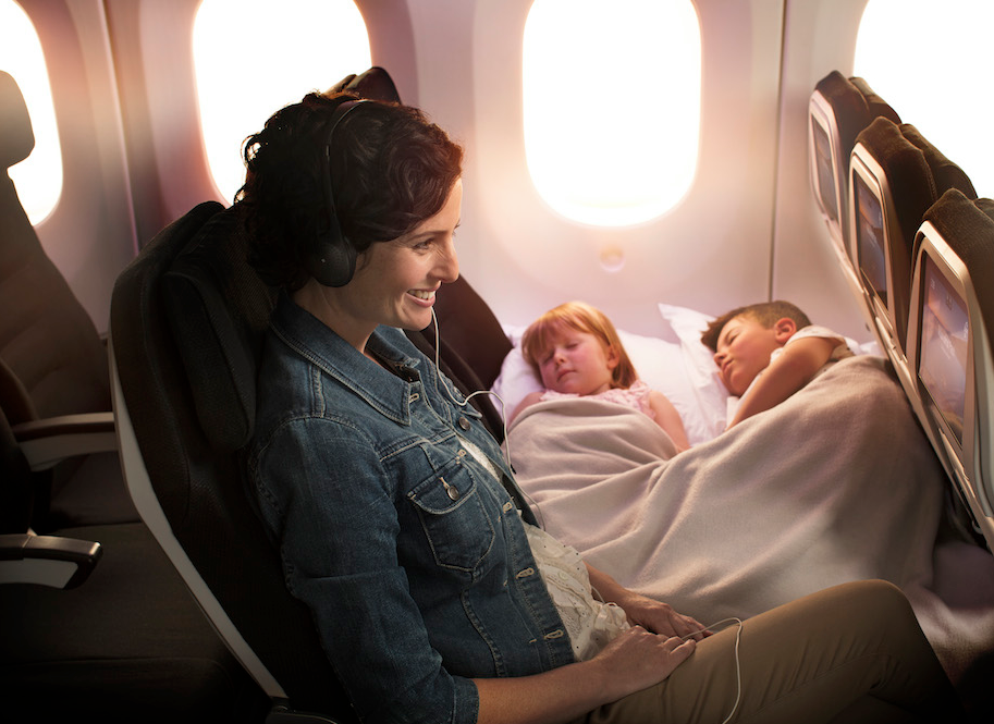 The new planes will feature 14 Skycouch rows, three economy seats that turn into a couch.