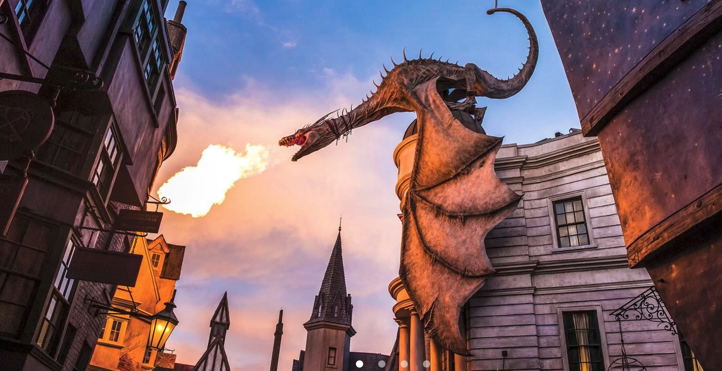 The fire-breathing dragon in the Wizarding World of Harry Potter.