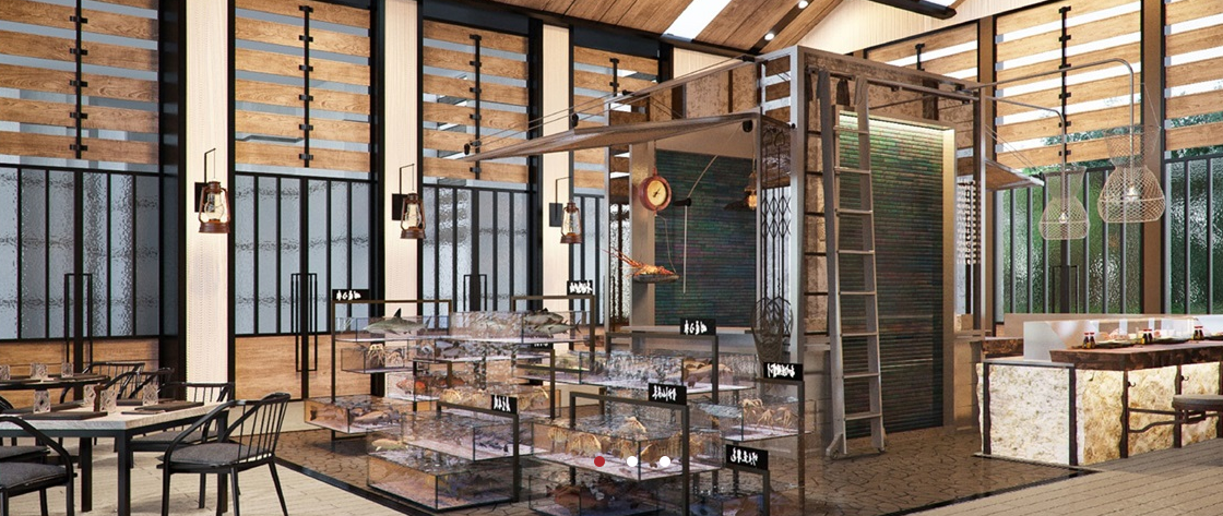 A peek into the Fishmonger Restaurant that will be specializing in seafood.