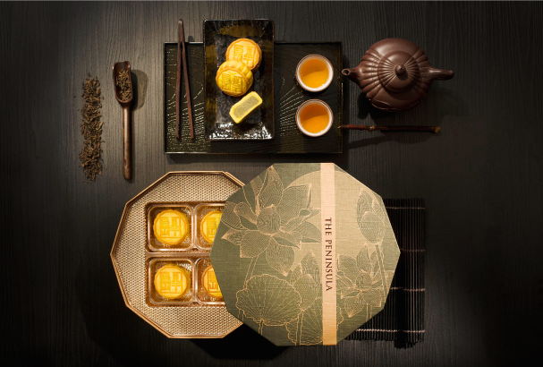 Jasmine and earl grey-infused mooncake
