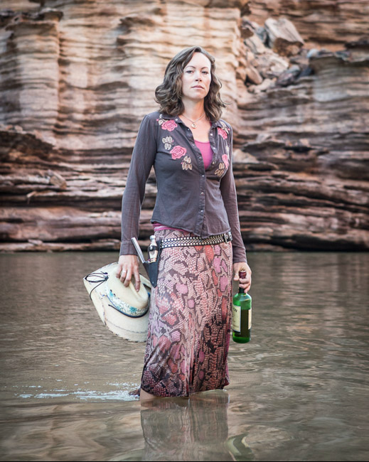 Whiskey in hand, trip leader Ariel Neill is considered one of the Grand Canyon's top river guides.