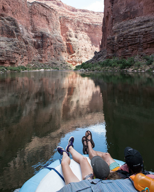 One of the more easy-going stretches of the river.