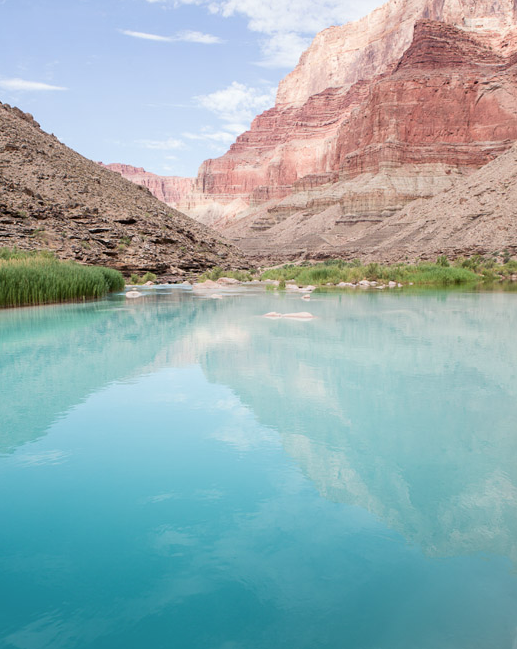 Turquoise waters at the mouth of Little Colorado River.
