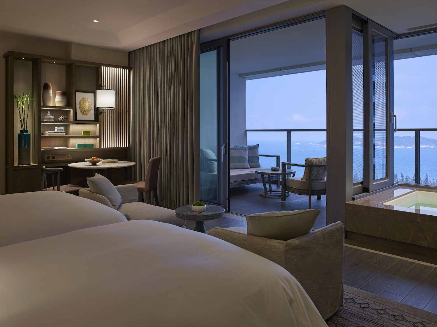 A peek into the Seascape Ocean View Room.