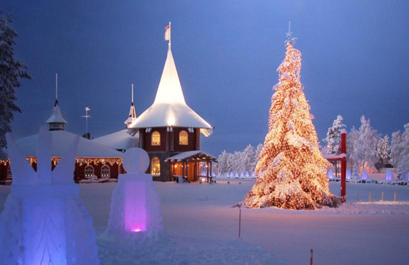 Santa Claus holiday village is one of the few accommodation options in this part of Finland.