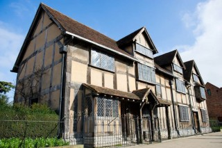 Shakespeare's birthplace in Stratford-upon-Avon, England.