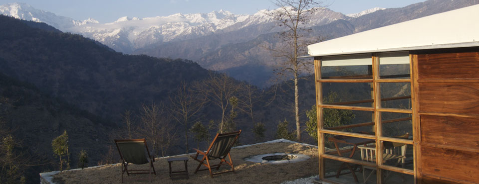 Shakti 360° is a remote retreat in the Himalayas.