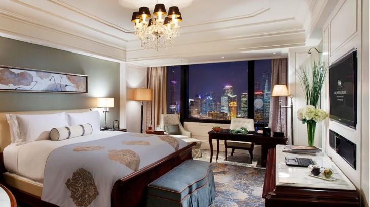 Shanghai hotels Waldorf Astoria night view Bund