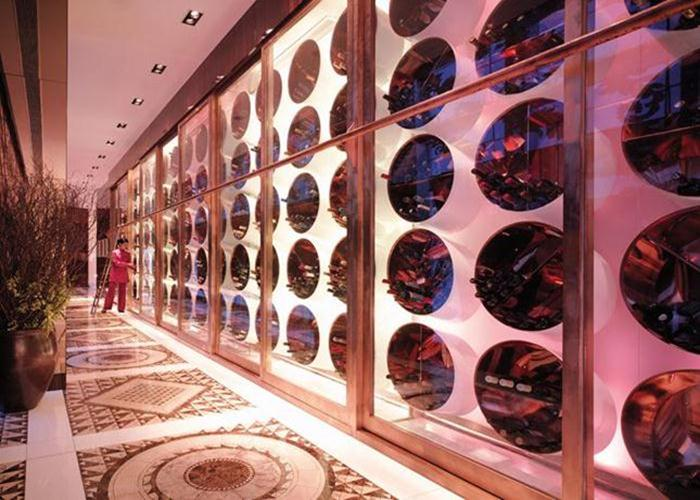 The wine bistro at the Pudong Shangri-La Shanghai has 108 types of wine and regularly hosts wine tastings with an award-winning sommelier.