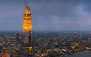 At 244m, the 72nd story is the highest public level of The Shard.