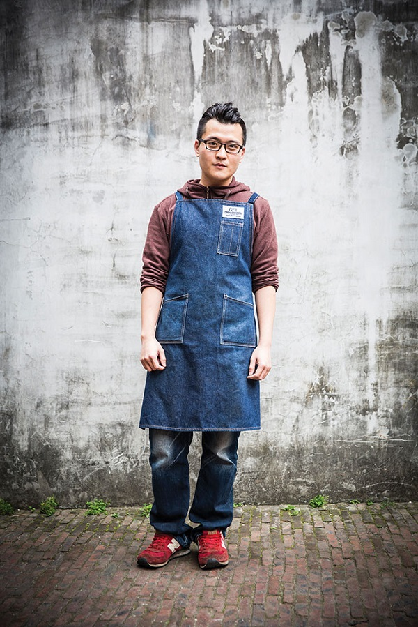 Barista Samuel Chang outside OCT-Loft's popular Gee Coffee Roasters cafe.