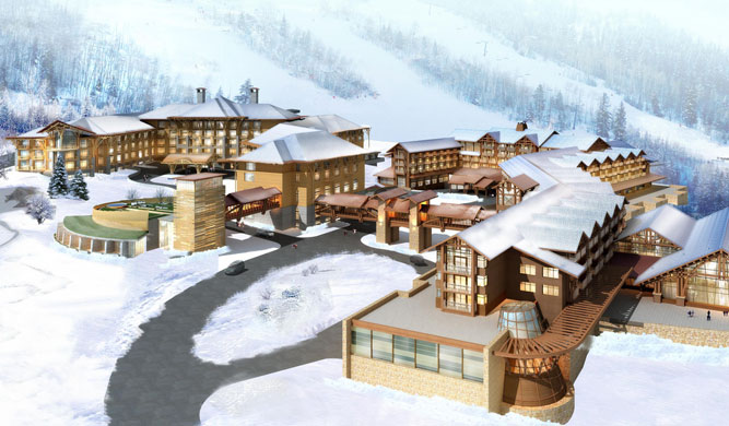 A rendering of the Sheraton Changbaishan resort.