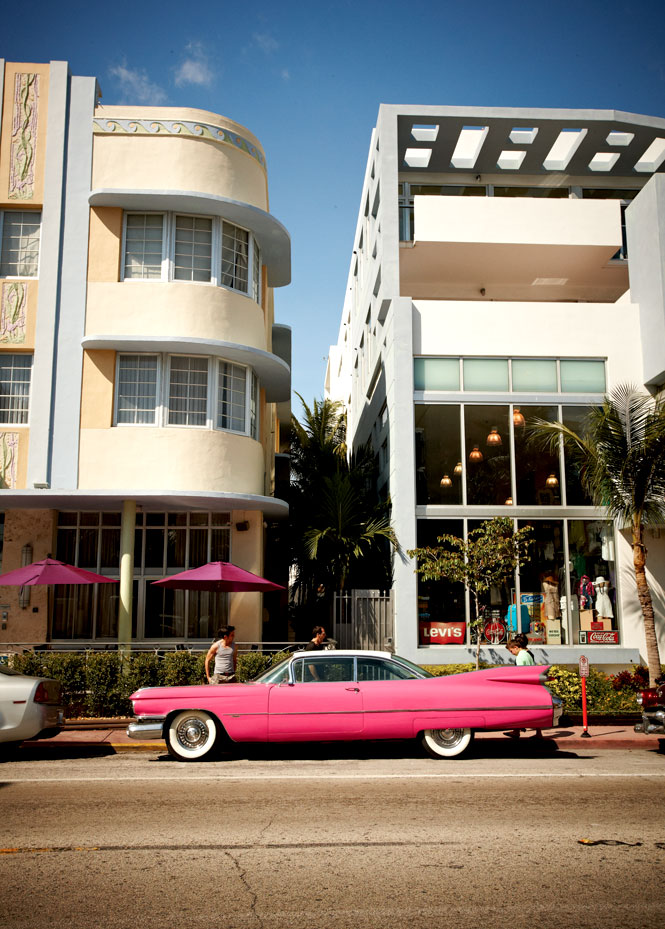In the pink on Collins Avenue, Miami Beach's legendary hotel strip.