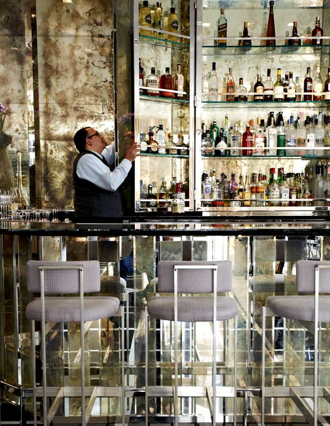Behind the bar at the St. Regis Bal Harbour.