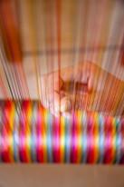 Artisan's silk threads.