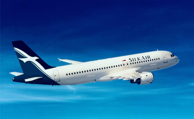 Airlines SilkAir airplane