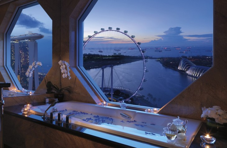 The Singapore Flyer, viewed from Ritz-Carlton Millenia Singapores Premiere Suite.