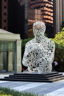 Outside the Ocean Financial Centre, Singapore Soul by Catalan sculptor Jaume Plensa pays tribute to the city-state's multicultural milieu.