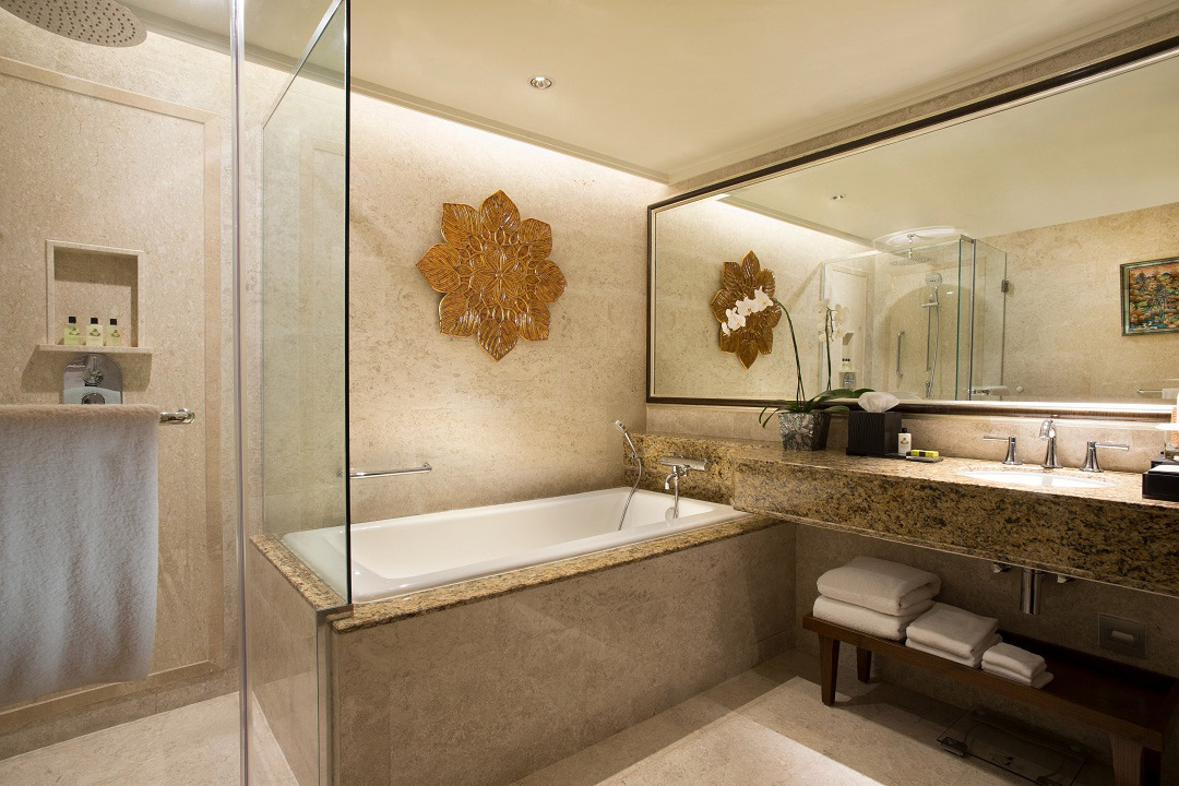 More decorative touches can be expected inside the marbled bathrooms.
