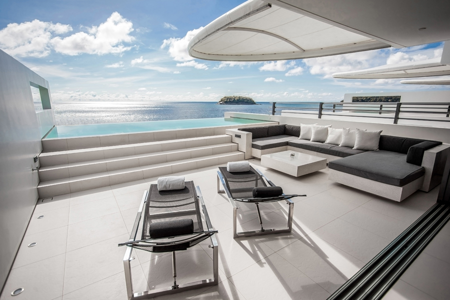 The patioin the Two Bedroom Sky Villa