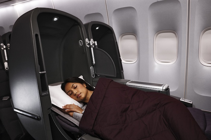Skybeds are available in Qantas Business Class.