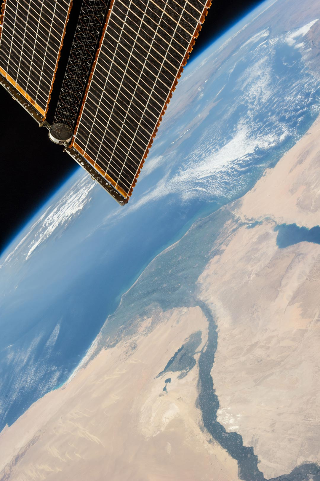 An astronaut's-eye view of Egypt.
