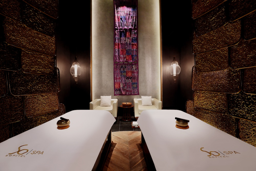 A couple's treatment room at the So Spa.