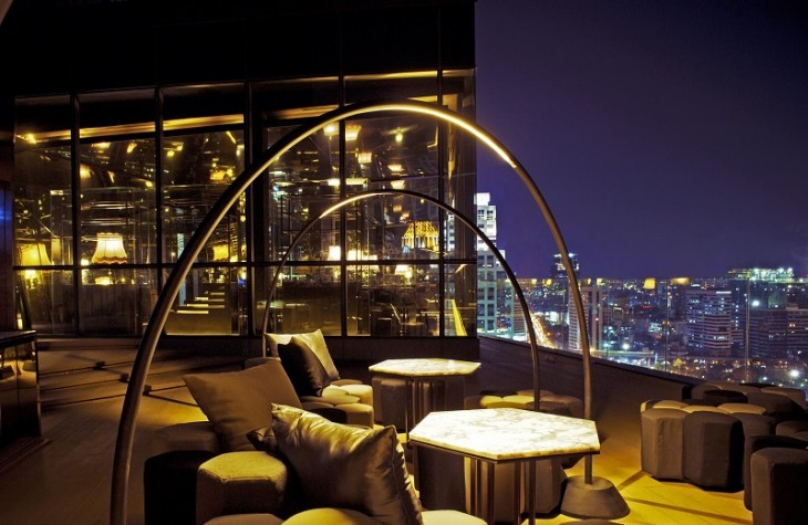 The hotel's Park Society lounge and restaurant sits 29-stories high.