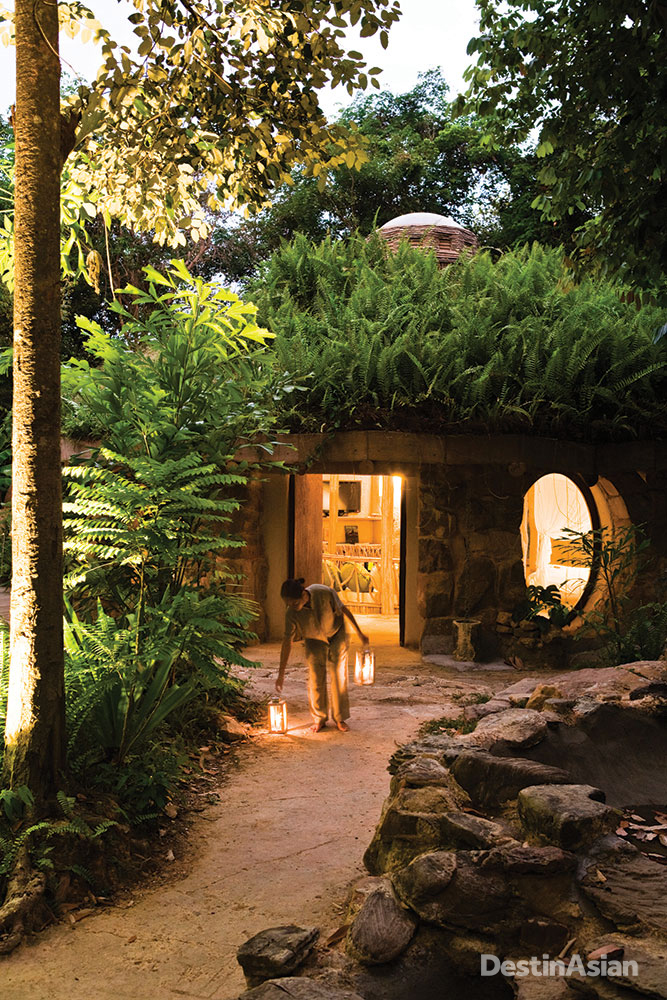 A the kids' club, the Eco Den teaches younger guests about sustainability.