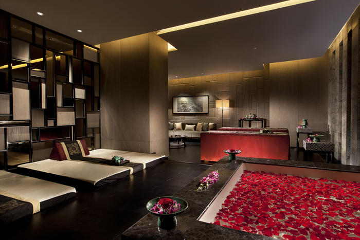 The spa at Banyan Tree Tianjin.