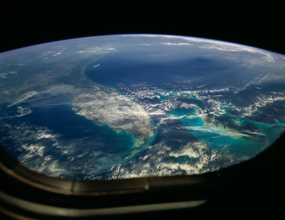Earth from the outer space. Photo courtesy of Space Adventures.
