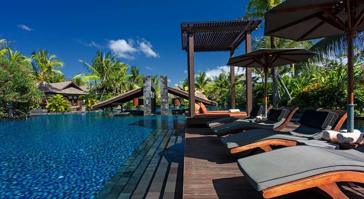 The pool at the St. Regis in Bali, Cullum's favorite island  to travel to.