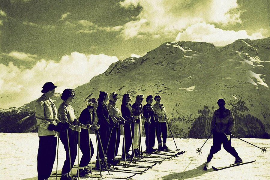 Skiers in St. Moritz.